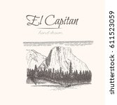 El Capitan. Yosemite. Sketch Of ...