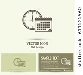 business cards design. vector... | Shutterstock .eps vector #611525960