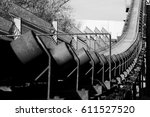 conveyor belt line in an open... | Shutterstock . vector #611527520