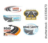 road and traffic safety symbol... | Shutterstock .eps vector #611530673