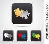 set of app icon  puzzles....