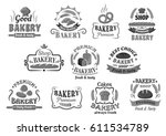 bakery bread and cakes icon... | Shutterstock .eps vector #611534789