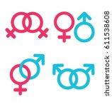 sexual orientation vector icons ... | Shutterstock .eps vector #611538608