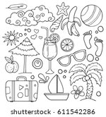 set of various hand drawn items ...   Shutterstock .eps vector #611542286
