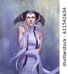digital illustration of fantasy ...   Shutterstock . vector #611542634