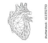 human heart illustration ...   Shutterstock .eps vector #611552753