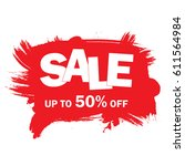sale banner template design red.... | Shutterstock .eps vector #611564984