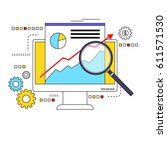 market data analysis concept... | Shutterstock .eps vector #611571530