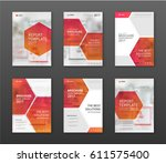 pharmaceutical brochure cover... | Shutterstock .eps vector #611575400