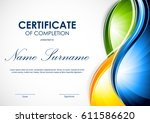 certificate of completion... | Shutterstock .eps vector #611586620