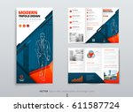 tri fold brochure design. dl...