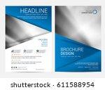 brochure template flyer... | Shutterstock .eps vector #611588954