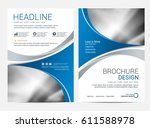 brochure template flyer... | Shutterstock .eps vector #611588978
