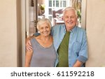 happy portrait of a content...   Shutterstock . vector #611592218