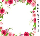 vector background frame with... | Shutterstock .eps vector #611597198