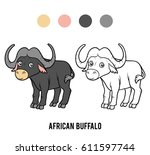 coloring book for children ... | Shutterstock .eps vector #611597744