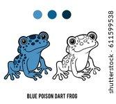 coloring book for children ... | Shutterstock .eps vector #611599538