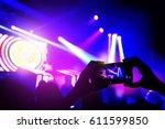 smartphone talking video for... | Shutterstock . vector #611599850
