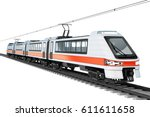 Modern City Electric Train. 3d...