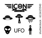ufo icon | Shutterstock .eps vector #611615540