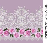 seamless pattern border....   Shutterstock . vector #611622638