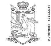 vector image of a heraldic... | Shutterstock .eps vector #611623169