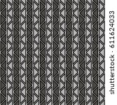 seamless vector abstract zig... | Shutterstock .eps vector #611624033