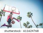 Basketball Player Making A Dun...