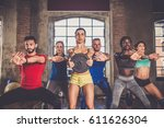 multi ethnic group of people... | Shutterstock . vector #611626304