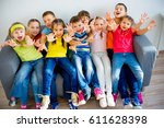 group of kids   Shutterstock . vector #611628398
