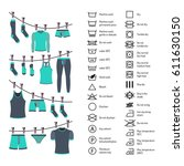 icons set of instructions for... | Shutterstock .eps vector #611630150