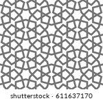 islamic seamless vector pattern....   Shutterstock .eps vector #611637170