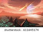 digital illustration of...   Shutterstock . vector #611645174