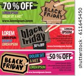 black friday sale vector... | Shutterstock .eps vector #611645450
