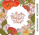 happy mother's day  vector... | Shutterstock .eps vector #611646008