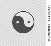yin yang symbol vector icon eps ...   Shutterstock .eps vector #611647694
