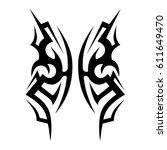 tattoo sketch tribal vector...   Shutterstock .eps vector #611649470