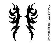 tattoo sketch tribal vector... | Shutterstock .eps vector #611649938