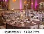 classy wedding setting.table... | Shutterstock . vector #611657996