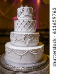 wedding cake   Shutterstock . vector #611659763