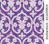 seamless ornament patterned in... | Shutterstock .eps vector #611659814