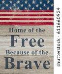 usa patriotic message  usa... | Shutterstock . vector #611660924