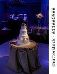 wedding cake at reception | Shutterstock . vector #611660966