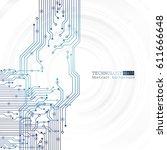vector circuit board... | Shutterstock .eps vector #611666648