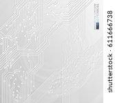 vector circuit board... | Shutterstock .eps vector #611666738