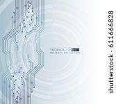 vector circuit board... | Shutterstock .eps vector #611666828