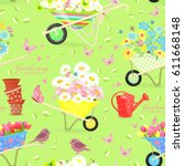 Cute Seamless Texture With...