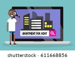 looking for an apartment for... | Shutterstock .eps vector #611668856