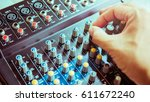 Hand Adjusting Volume Sound Of...