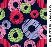 seamless abstract pattern.... | Shutterstock .eps vector #611675810